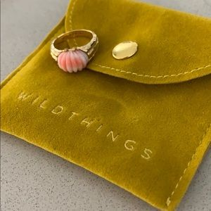 Child of Wild dreamy shell pinky ring